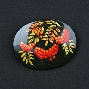 Vintage Art Deco Hand-painted Brooch pin